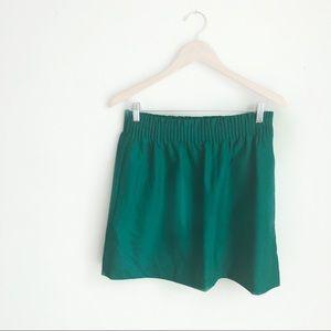 J. Crew emerald green wool blend skirt